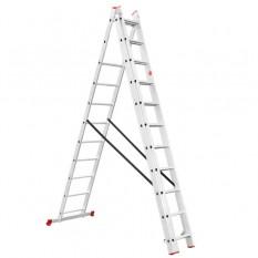 Лестница алюминиевая 3-х секционная универсальная раскладная 3*11ступ. 7.33м