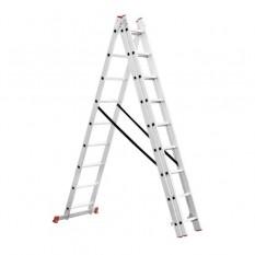 Лестница алюминиевая 3-х секционная универсальная раскладная 3*8ступ. 5.09м
