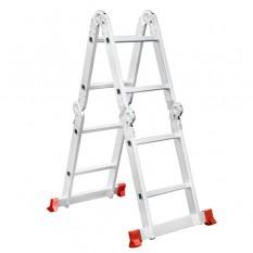 Лестница алюминиевая мультифункциональная трансформер 4*2 ступ. 2.38м