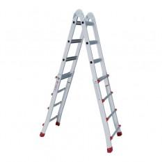 Лестница алюминиевая универсальная раскладная телескопическая 4*4 ступ