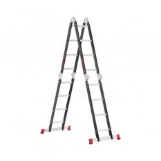 Лестница мультифункциональная трансформер 4х4ступени, стальной профиль, 4450мм, 150 кг
