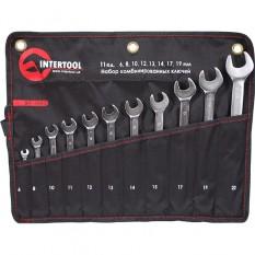 Набор ключей комбинированных 11шт. (6мм 8мм 10мм 11мм 12мм 13мм 14мм 15мм 17мм 19мм 22мм) PROF DIN31