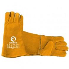 Перчатка замшевая 14 (желтая)