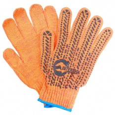 Перчатка трикотажная 60% хлопок / 40% полиэстер, с ПВХ точкой, класс вязки 7, цвет оранжевый, с плат