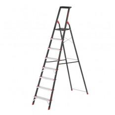 Стремянка 8 ступеней, лоток для инвентаря, стальной профиль, высота верхней ступени 1720 мм, 527х143