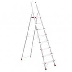 Стремянка алюминиевая 8 ступеней, высота до платформы 1720мм