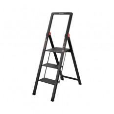 Стремянка алюминиевая Black Slim, 3 ступени, высота верхней ступени 684мм, 150 кг, STORM