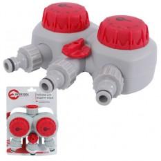 Таймер для подачи воды с 2-х канальным распределением, 153045607590105120мин, три выхода на конектор