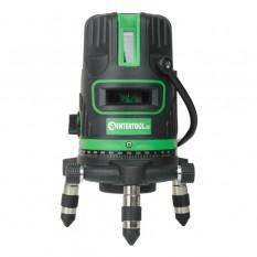 Уровень лазерный 5 лазерных головок, зеленый лазер, звуковая индикация