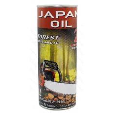 Масло для 2-х тактных двигателей ж/б Japan Oil FOREST 2T 1л круглая / минеральное