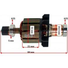 Якорь дрели Makita BDF/BHP451 оригинал 619165-3 (84*31 посадка 5 мм)