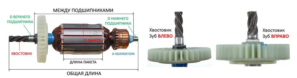 Якоря для электроинструмента разные