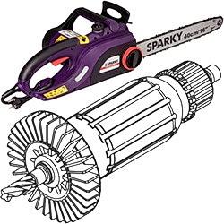 Якоря (роторы) для цепных электропил